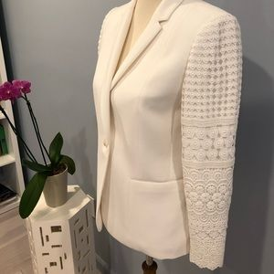 Elie Tahari jacket with lace sleeves